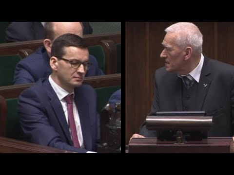 Kornel Morawiecki po expose swojego syna Mateusza 12.12.2017