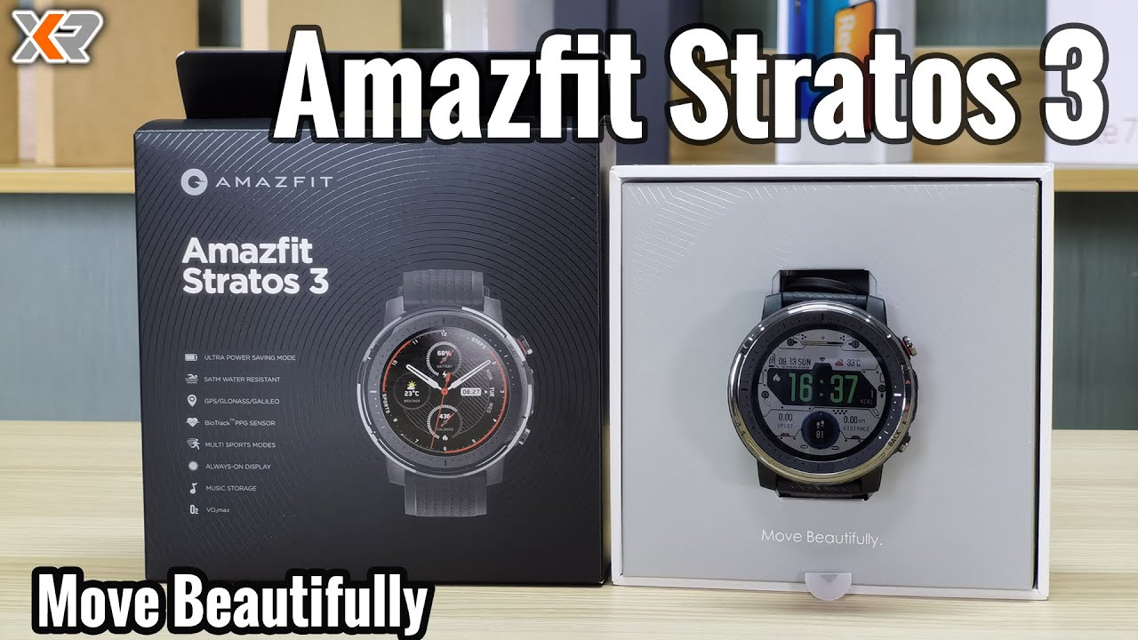 Amazfit Stratos 3 Fitness Smartwatch - More Than I Expected! Lightweight, Long Lasting Battery!