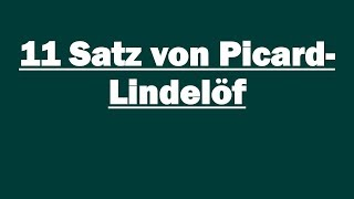 11 Satz Von Picard Lindelof Youtube