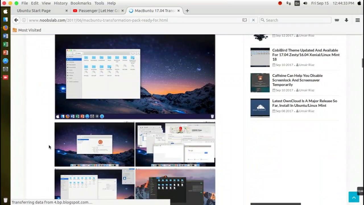 How to install themes mac os on Ubuntu 16 04, 16 10, 17 04 working 100%