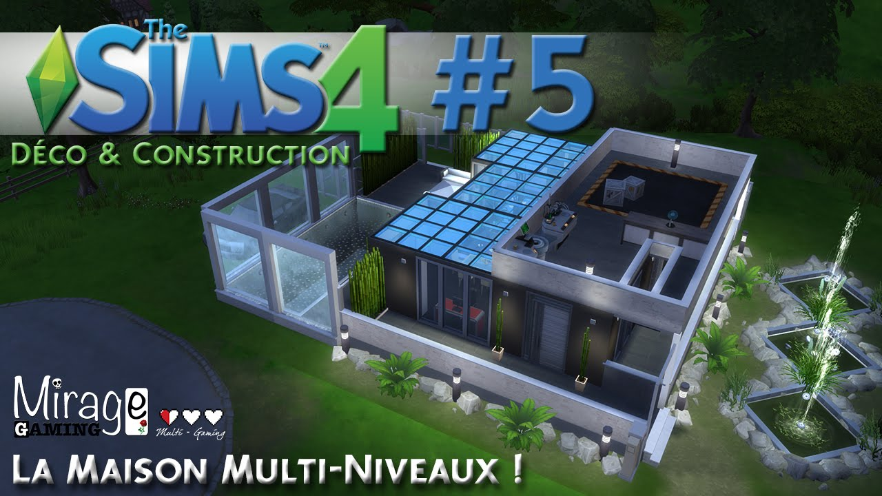 D co co sims 4 maison multi niveaux speed build for Decoration maison sims 4