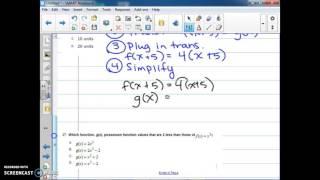 Describing Transformations Using Function Notation Examples