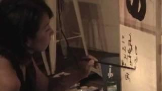 Miyuki Ueda Live Painting at NOS-EBISU