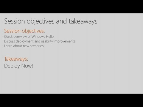 Windows Hello for Business: What's New in 2017 - BRK2076