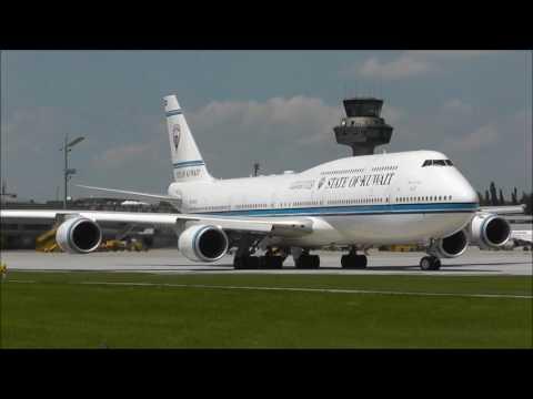 Must see! State of Kuwait Boeing 747-8JK(BBJ) [9K-GAA] visits Salzburg airport