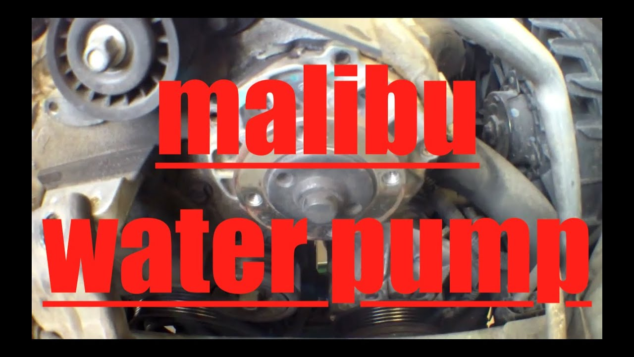 How to replace water pump drive belt tensioner Chevy Malibu √  YouTube