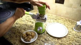 Manual Rotary Vegetable Cutter Grater and Shredder Review