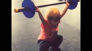 Little Boy Performs Perfect Power Snatch