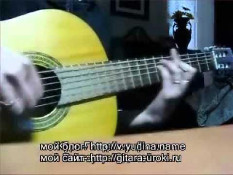 На большом каретном урок на гитаре песни Высоцкого Виктория Юдина