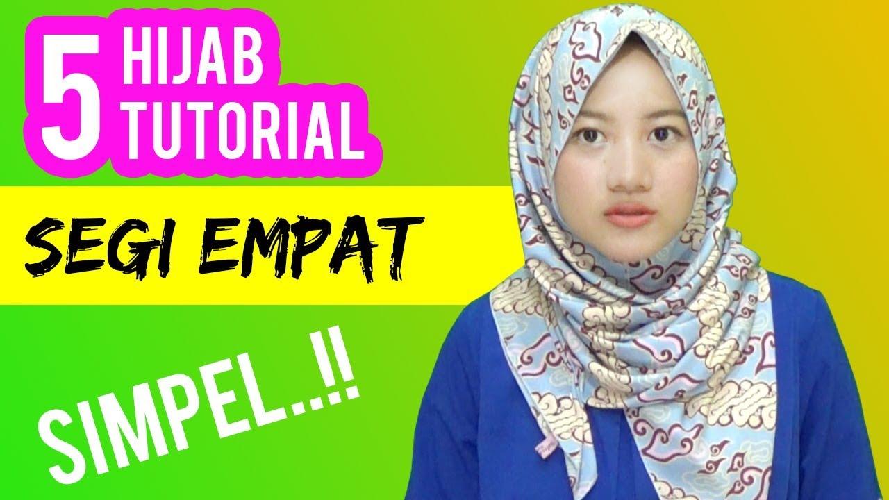 5 Cara Pakai Jilbab Segi Empat Terbaru Simple Dengan Motif Batik