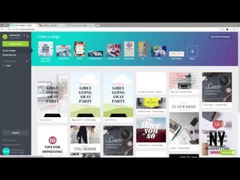 Utiliser Canva pour créer des designs