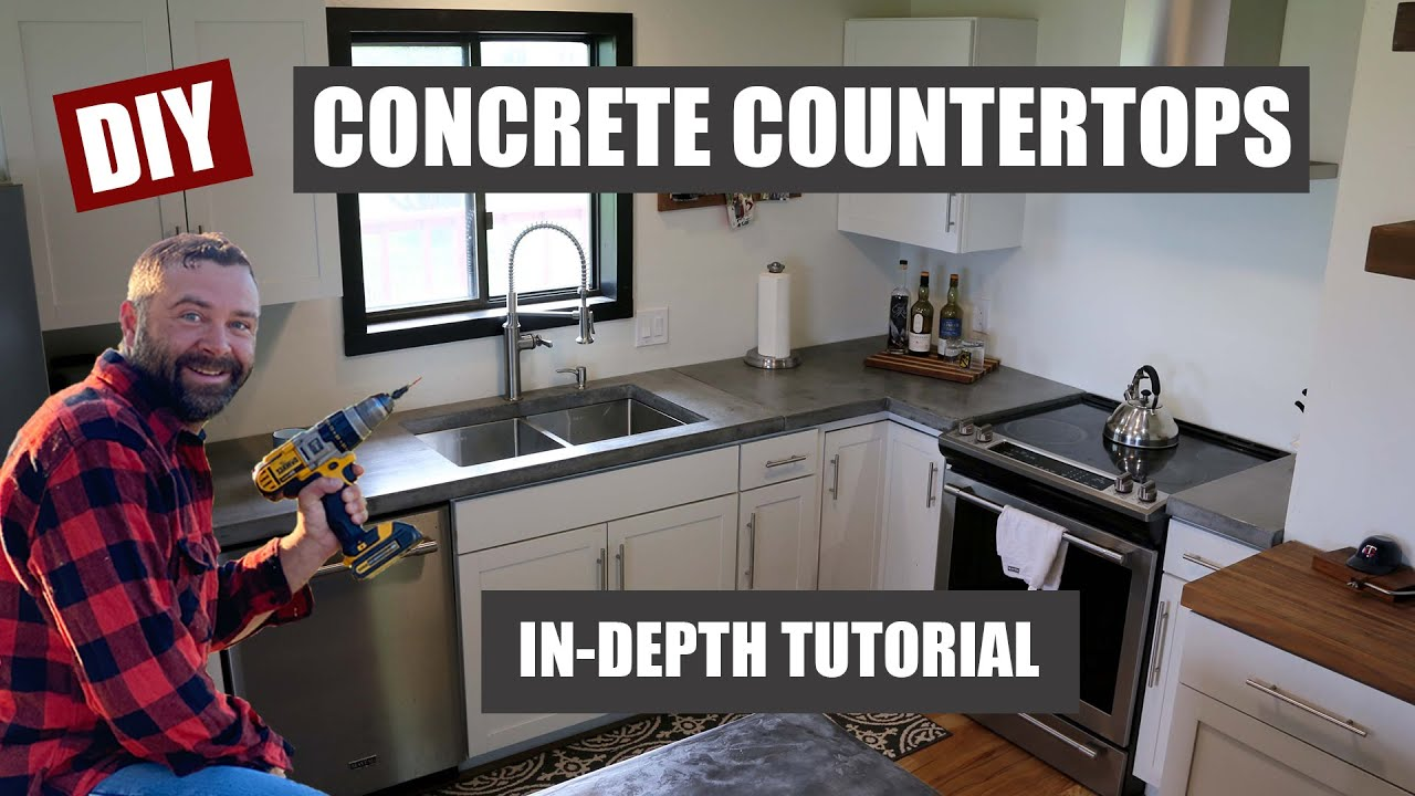 Making Your Own Concrete Countertop How To Make Concrete Countertops