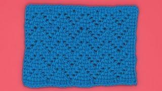 Узор волна тунисским крючком. Тунисское вязание. Вязание узора крючком. Crochet pattern.