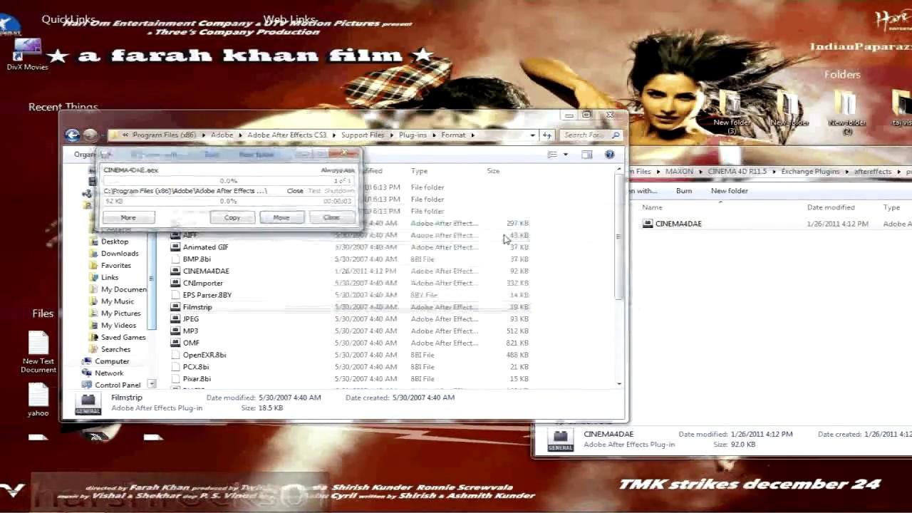 cinema 4d plugin installation(after effects plugin)