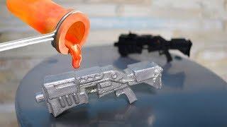 Aus geschmolzenem Aluminium eine Fortnite Shotgun selber gemacht - DiY