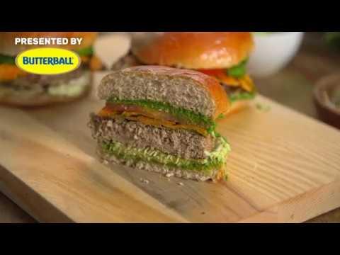 California Turkey Burger Recipe Butterball Youtube