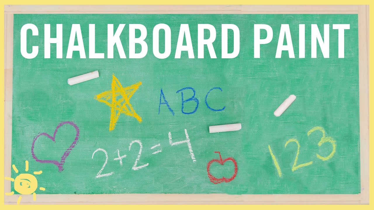 diy how to make chalkboard paint only 2 ingredients youtube