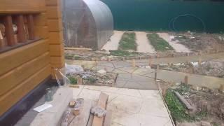 отмостка вокруг дома, бани, сарая, садовые дорожки из бетона. Часть 2