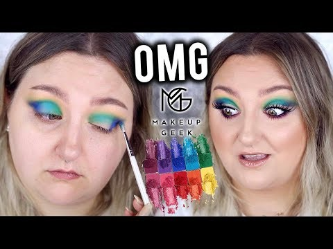 OMG! | MAKEUP GEEK POWER PIGMENTS | HIT OR SH*T!? | FIRST IMPRESSIONS, TUTORIAL + REVIEW