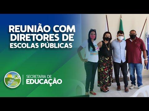 SECRETARIA DE EDUCAÇÃO PROMOVE REUNIÃO COM DIRETORES DE ESCOLAS PÚBLICAS