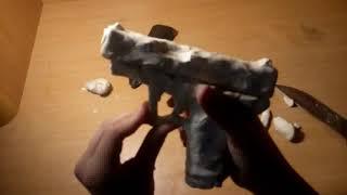 как сделать револьвер из пластилина