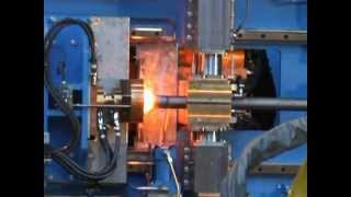 Electrical upsetting for rear axles shafts production