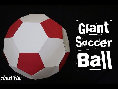 "How To: Make ""Giant"" Origami Soccer Ball (Paper Soccer Ball)"
