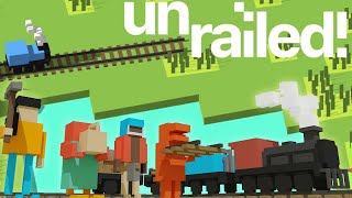 Using Dynamite & Friendship To Build The Greatest Of Railways - Unrailed! Gameplay