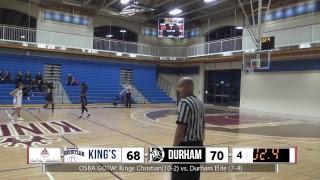 OSBA Game of the Week: King's Christian (10-2) vs. Durham Elite (7-4)