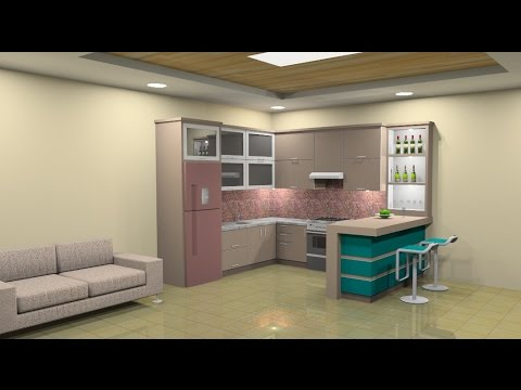 Sketchup interior tutorial make a kitchen