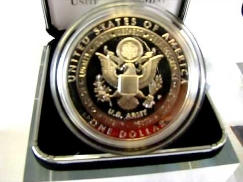 2011 United States Army Commemorative Coin Proof Silver Dollar