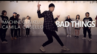 machine gun kelly camila cabello bad things choreography seung jae