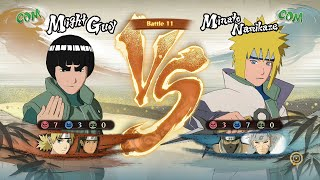 Naruto Shippuden Ultimate Ninja Storm 4, Might GuyTemariHashirama VS MinatoKakuzuTobirama!