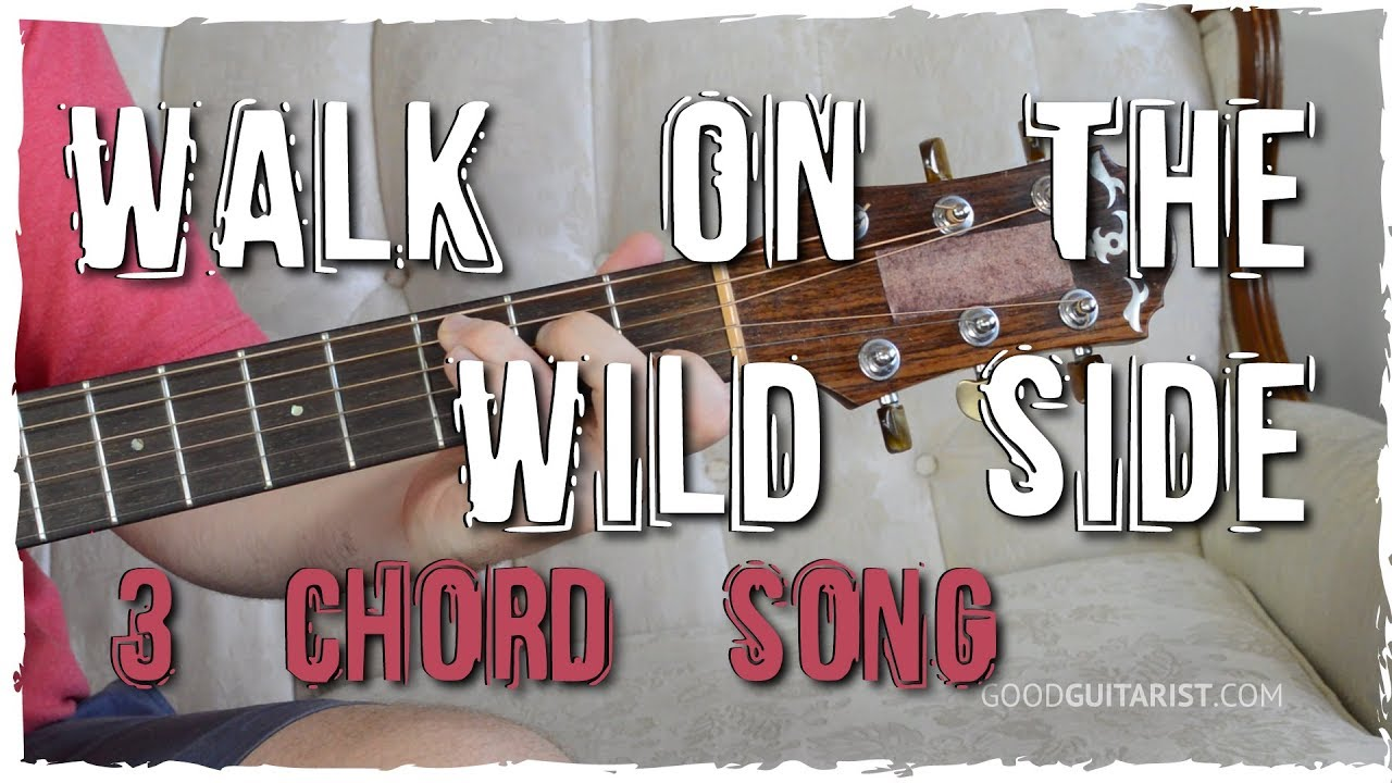 Walk On The Wild Side Guitar Tutorial Intro Riff 3 Chord Song