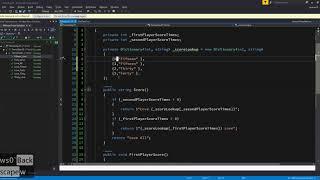 Visual Studio   Tennis Game Day25