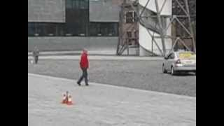 solar car drifting!! by Bochum team in ESC Genk BE