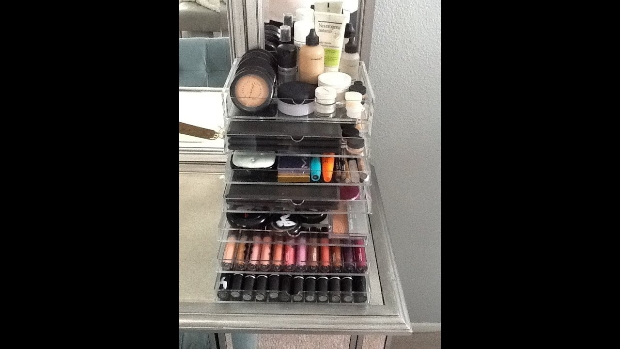 Muji drawer storage and makeup organization & Muji drawer storage and makeup organization - YouTube