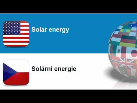 Learn Czech vocabulary #Topic = Electricity, heating, solar and nuclear energy