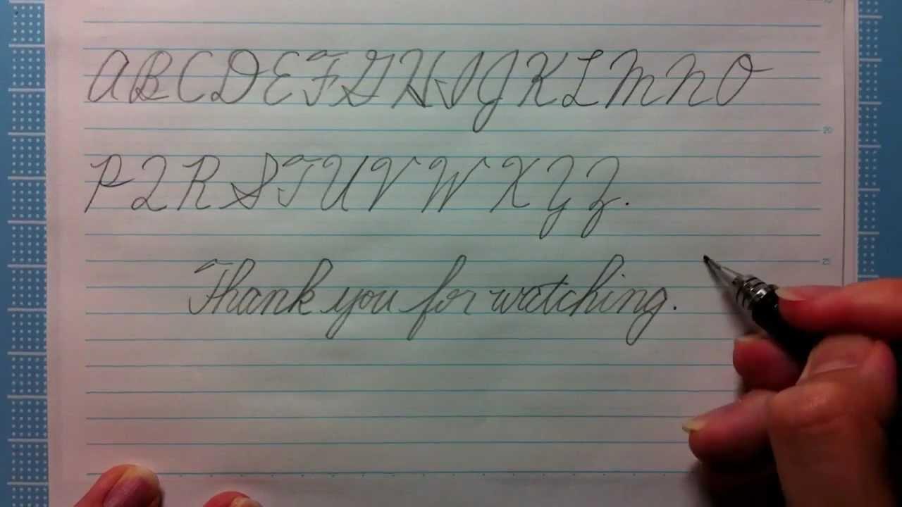 筆記体の書き方 大文字 cursive writing