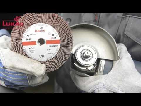 Лепестковый шлифовальный круг для угловых шлифовальных машинок Lukas LSL
