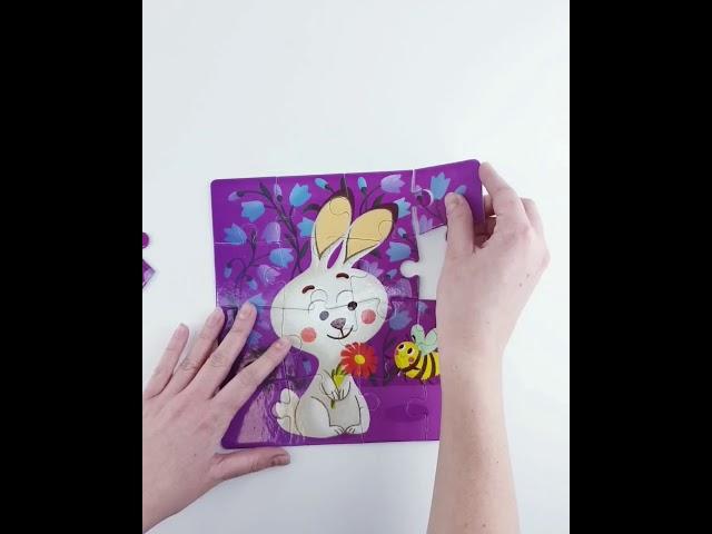 Dodo R300121 Пазл раскраска 2 в 1 Зайчонок