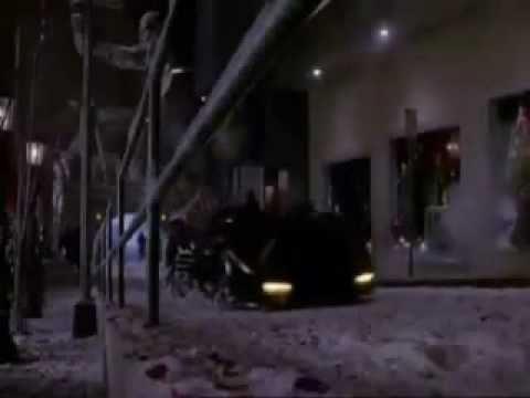 BATMAN RETURNS 1992 THE BATMOBILE ROCKETS AT GOTHAM PLAZA