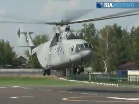 Ka-226T ambulance and giant Mi-26T2 at MAKS-2011
