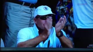Ivan Lendl's reaction when Murray wins Wimbledon