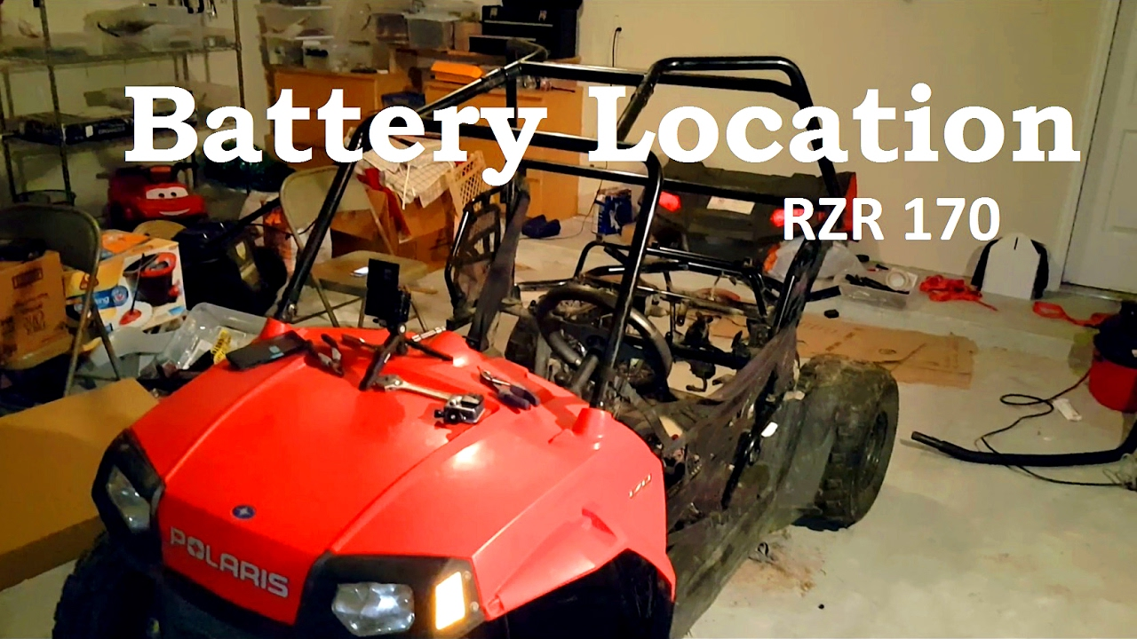 Polaris RZR 170 | Where is the Battery Located - YouTube