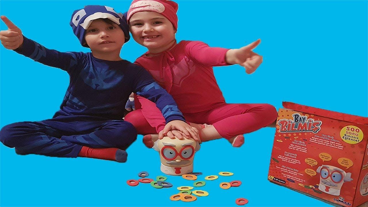 Bay Bilmiş oyuncak kutusu açtık, Baykuş Kız Kedi Çocuk ile bilgi yarışması yaptık.
