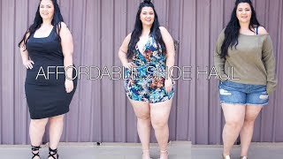 MOST AFFORDABLE SHOE HAUL EVER | And PLUS SIZE FASHION OUTFIT INSPIRATION