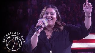 [NBA] Natalie Kalamdaryan National Anthem Performance, MIL vs LAC, November 6, 2019