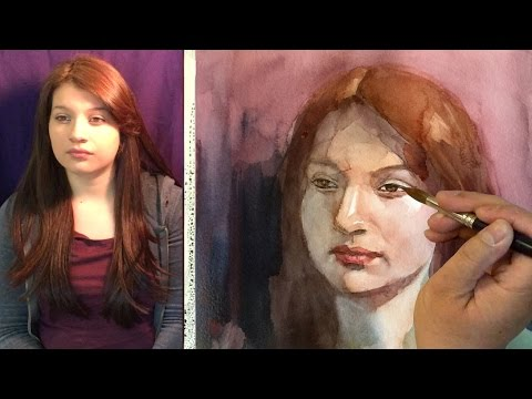 Watercolor portrait painting of Adaliz