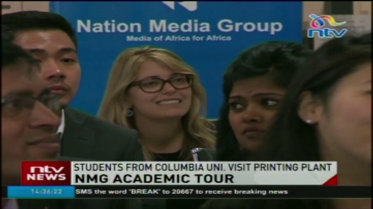 Columbia Business School students tour Nation Media Group